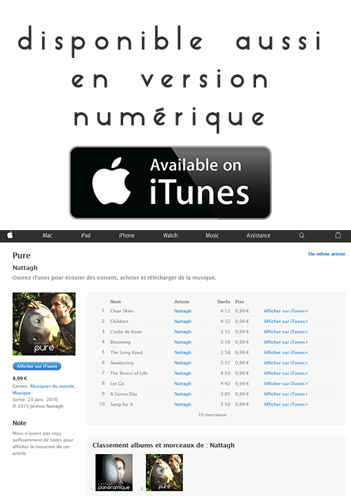 itunes Jeremy Nattagh album PURE 2016